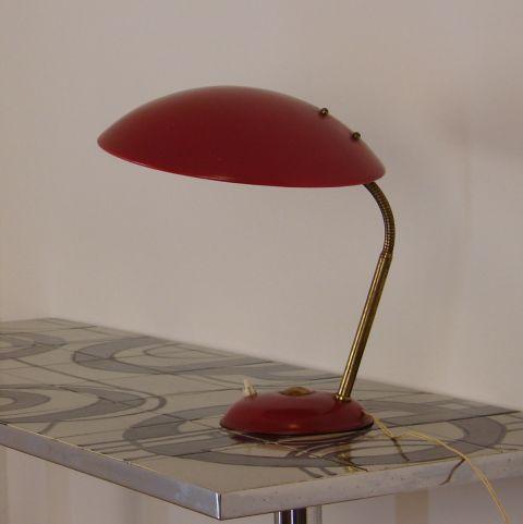 Zeldzame bureau/tafel lamp Bauhaus Stijl