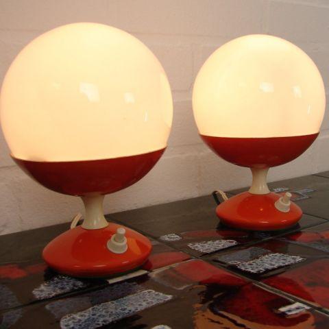 Zeldzaam Deens Design Duo Space Age tafellampen