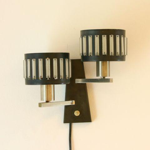 Zeldzaam Dutch Design Wandlamp 'Mad Men' voor Anvia Almelo