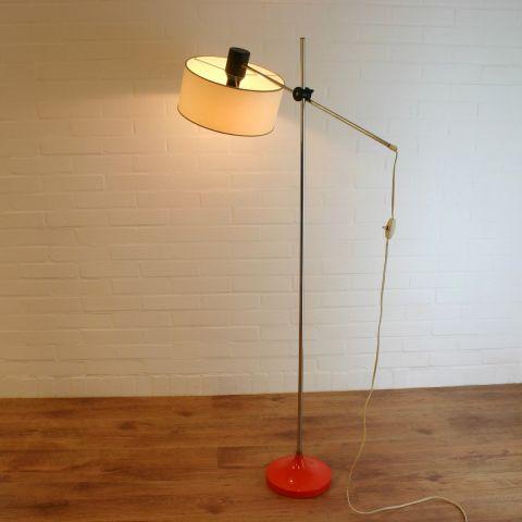 Zeldzame Vloerlamp / Hengellamp Dutch Design van Hagoort Lighting
