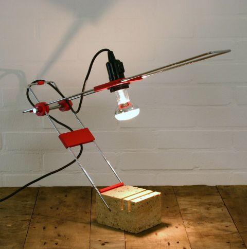 Zeldzame tafellamp Italiaans Design van Fratelli Mannelli
