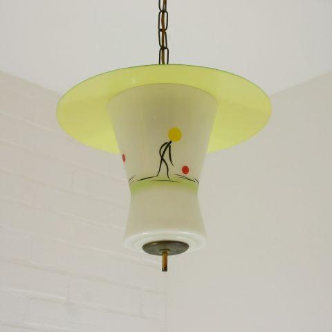 Zeldzame hanglamp vermoedelijk Stilnovo