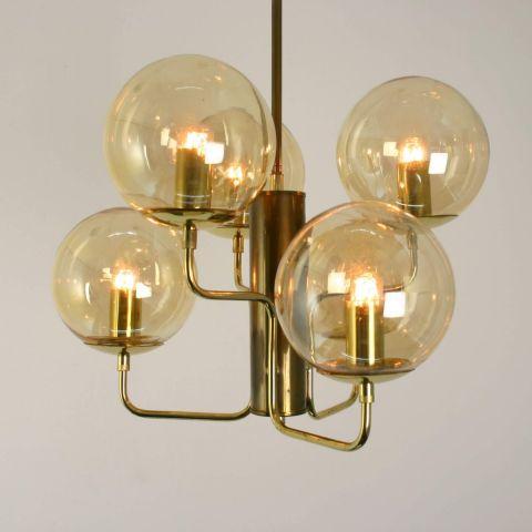 Zeldzame Zweedse hanglamp van Hans-Agne Jakobsson