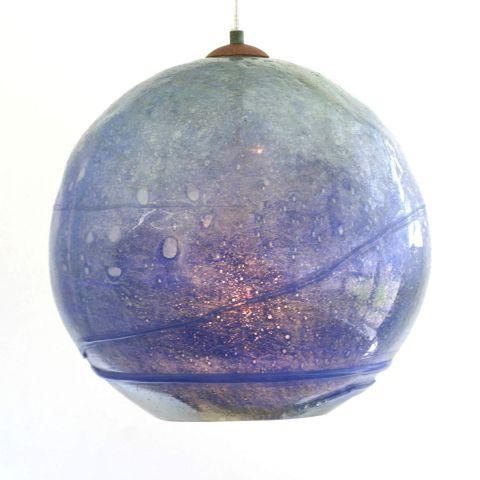 Mondgeblazen hanglamp 'Blue Moon'