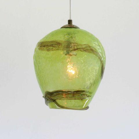 Mondgeblazen hanglamp 'Coconut'