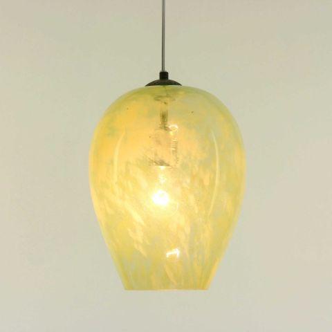 Hanglamp-gerecycled-glas-limoengeel
