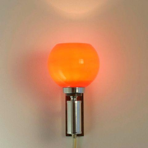 Wandlamp jaren 60 met Murano kap