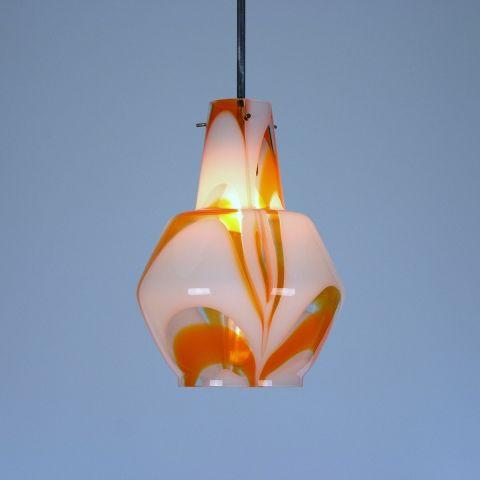 Handgeblazen Murano Pendel/Hanglamp Italiaans Design van Carlo Moretti