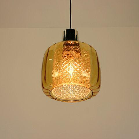 Hanglamp met kristallen binnenkelk van Doria Leuchten atrr.