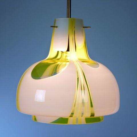 Handgeblazen Murano Hanglamp Italiaans Design van Carlo Moretti
