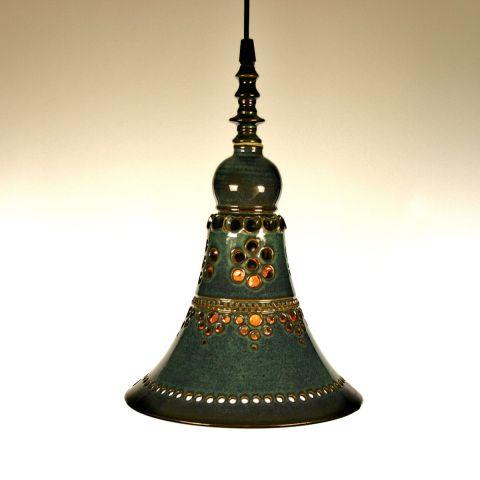 Handgemaakte Dutch Design keramische hanglamp van Geert Jacobs