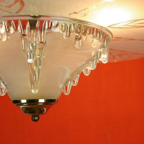 Zeldzame Art Deco pendel/hanglamp luster van Ezan France