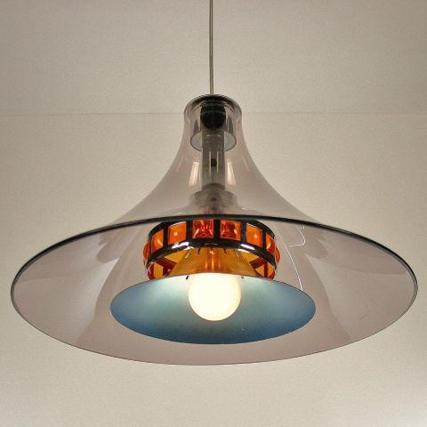 Unieke Dutch Design Hanglamp uit het Space Age tijdperk