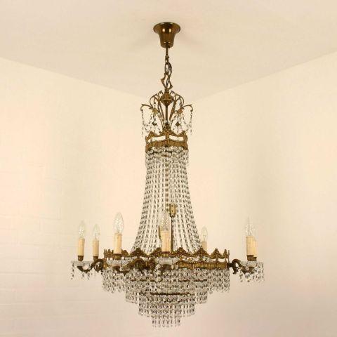 Antieke Franse Lodewijk XVI stijl zakkroonluchter met 16 lichtpunten