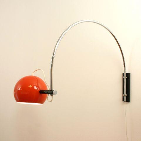 Dutch Design wand/booglamp uit de jaren 60