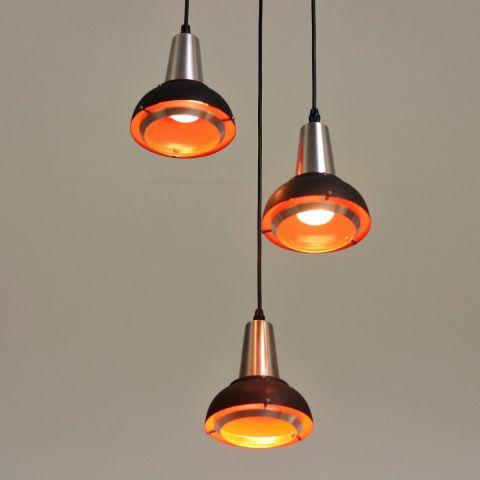 Hanglamp trio Space Age Dutch Design van Lakro.