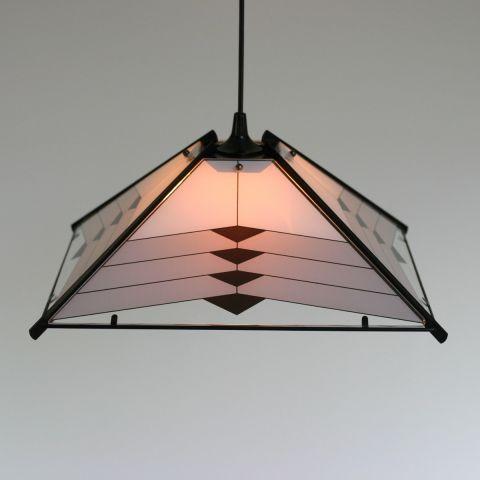 Zeldzame Tiffany hanglamp in art deco stijl