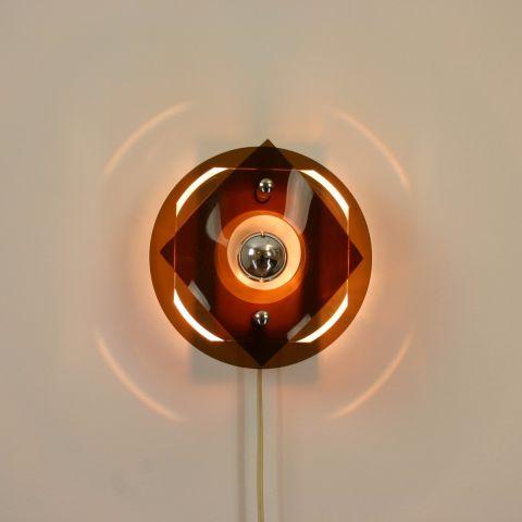 Dutch Design Space Age perspex wandlamp