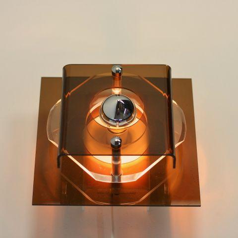 Perspex wandlampje van Herda