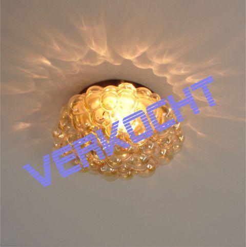 Handgeblazen plafond/wandlamp Fins Design 'Bubble' van Helena Tynell voor Glashütte Limburg
