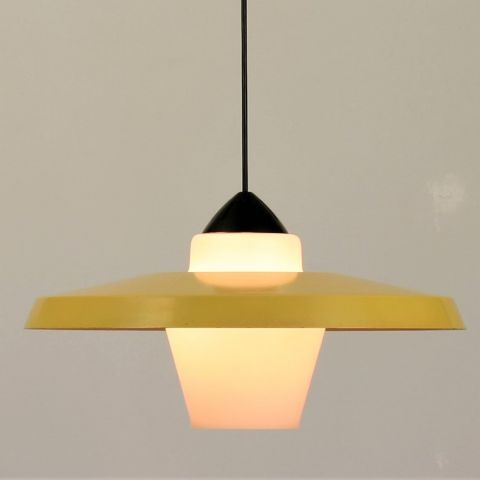 Jaren 50 Dutch Design Hanglamp van Louis Kalff voor Philips