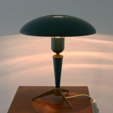 Dutch Design Icon Tafellamp Louis Kalff voor Philips 'Bijoo Tripod Ufo'