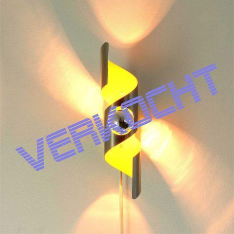 Space Age Wandlamp Dutch Design van Raak, Amsterdam, 'Wokkel'